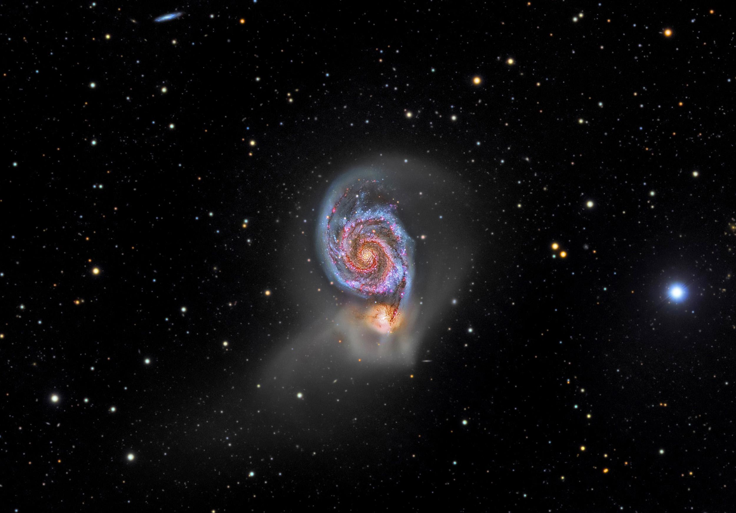 The Whirlpool Galaxy (M51) in Canes Venatici