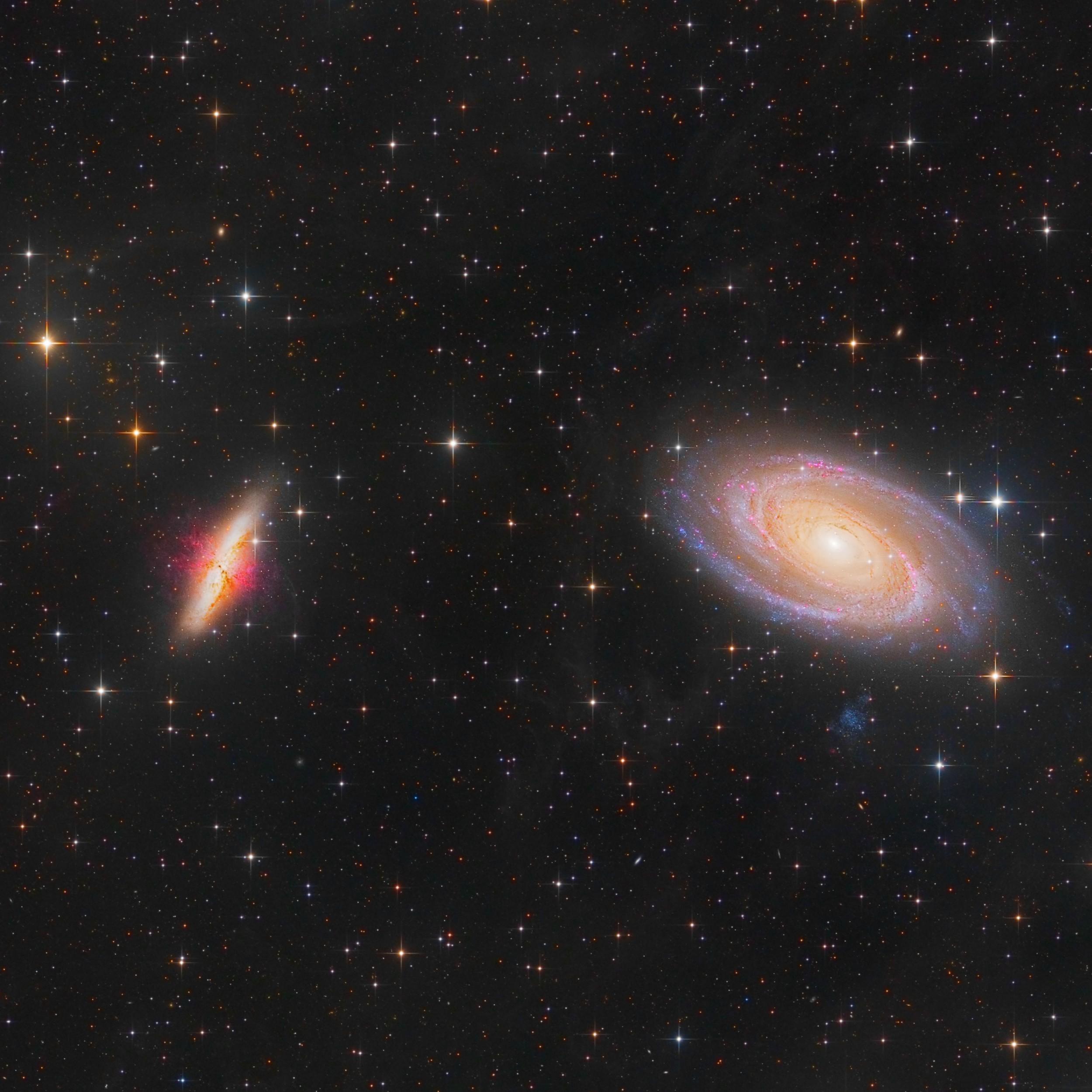M81+82 Spiral Galaxie Bart Delsaert